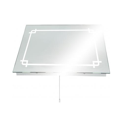Knightsbridge ip44 rectangular mirror light bathroom - Silver bathroom mirror rectangular ...