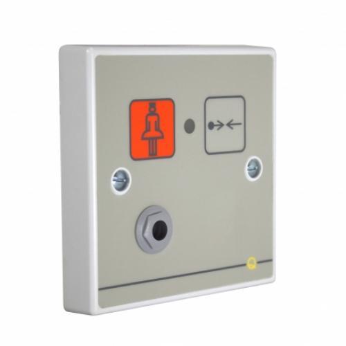 C-Tec Quantec Addressable Call Point, Button Reset c/w Iconised Label & Remote Socket
