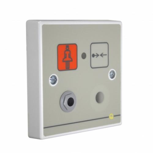 C-Tec Quantec Addressable Infrared Call Point, Button Reset c/w Iconised Label, Sounder & Remote Socket (Grey)