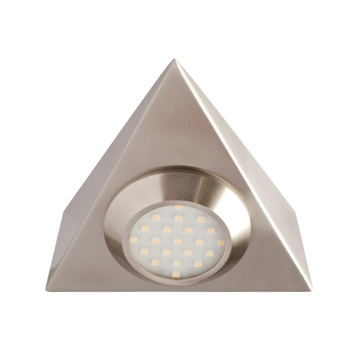 big sale 88182 578ec Robus Triangular Mains Voltage LED Cabinet Light (Brushed Chrome)