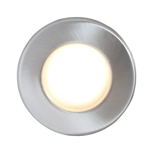 Ip65 single shower downlight bathroom lighting rs10165 13 robus uk robus 12v ip65 shower downlight single brushed chrome aloadofball Choice Image