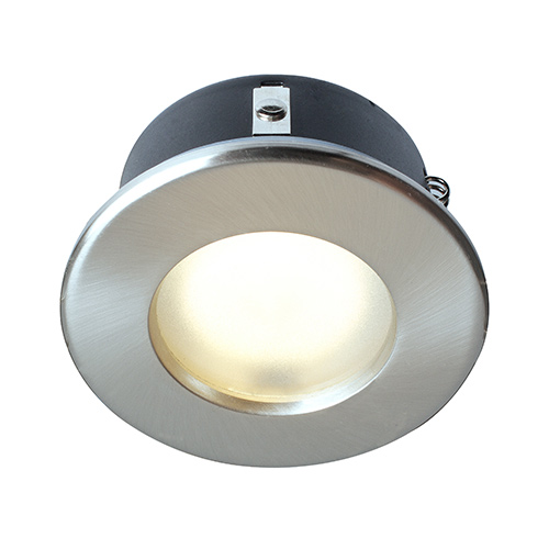 on sale f94a0 2421d Robus IP65 GU/GZ10 Shower Downlight (Brushed Chrome)