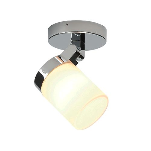 Saxby lighting cosmo single ip44 25w spotlight chrome