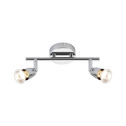 Saxby Lighting Amalfi Twin 50W Halogen Spotlight (Chrome)
