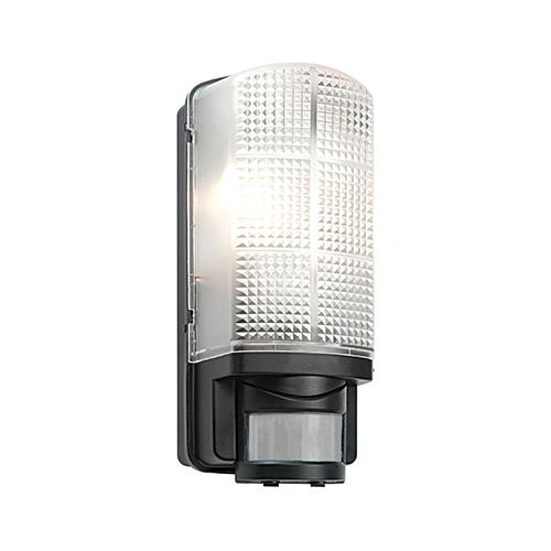 Saxby Lighting Motion IP44 60W PIR Bulkhead (Black)