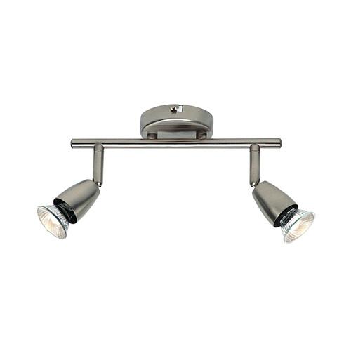 Saxby Lighting Amalfi Twin 50W Halogen Spotlight (Satin Nickel)