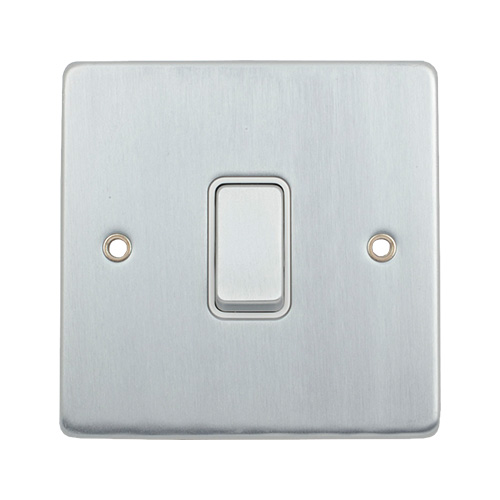 Schneider Electric GET 1 Gang 2 Way Retractive Switch Polished Chrome