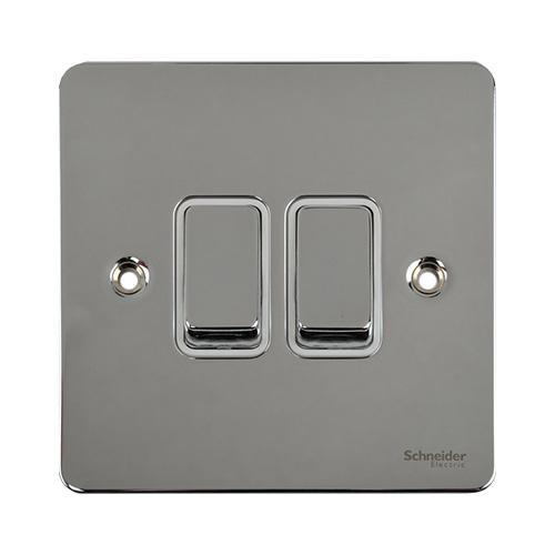 Schneider Electric GET Ultimate 2G 2W Switch (Polished Chrome)