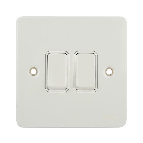 Schneider Electric GET Ultimate 2G 2W Switch (White Metal)