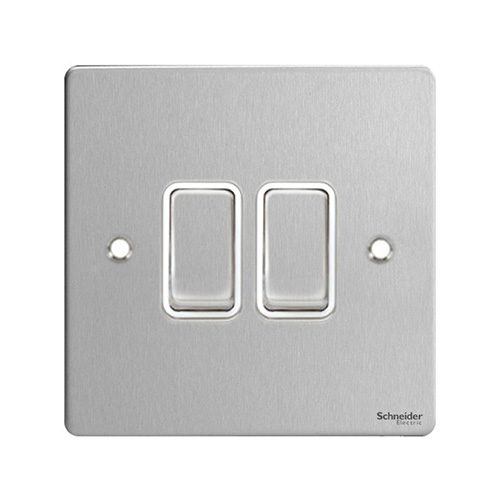 Schneider Electric GET Ultimate 2G 2W Switch (Stainless Steel)