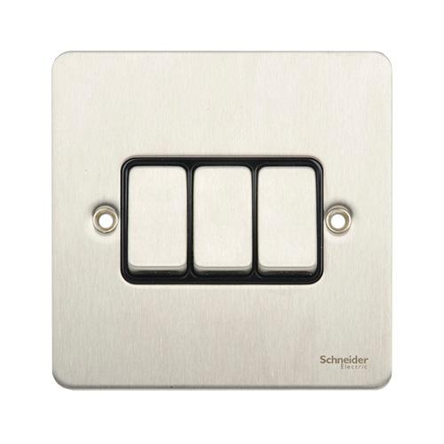 Schneider Electric GET Ultimate 3G 2W Switch (Stainless Steel)