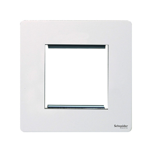 crazy price good service low cost Schneider Electric GET Ultimate Screwless Flat Plate 2G Euro Modular Plate  (White)