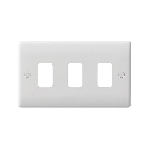 3 gang grid plate white wiring accessories gug03g schneider rh directtradesupplies co uk