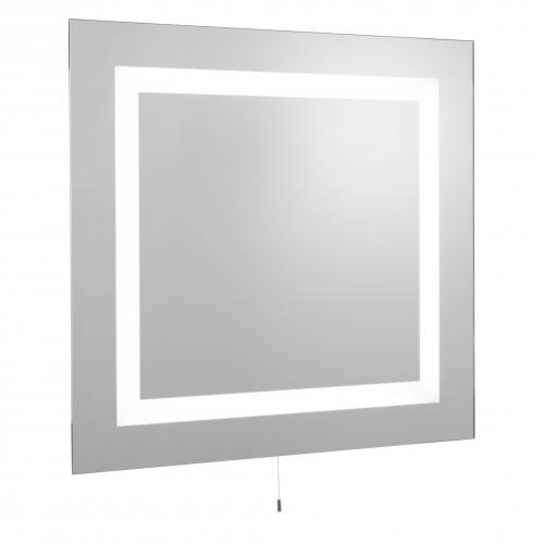 Searchlight Square Bathroom 4 Light Illuminated Mirror, Switched