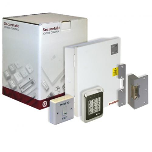 Securefast Standalone Access Control Kit with Keypad and Electric Strike (White)