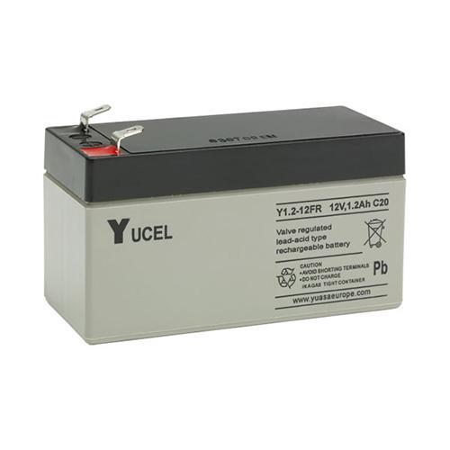 Yucel 1.2ah 12v Back Up Battery for Alarm Control Panels (Grey)