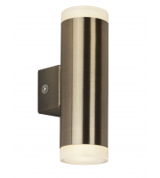 Searchlight Led Outdoor 2LT & Porch Wall Light Antique Brass