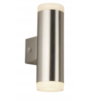Searchlight Led Outdoor 2LT & Porch Wall Light Satin Silver