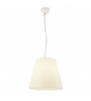 Searchlight Led Outdoor Pendant White Pc Tapered Shade