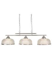 Searchlight Bistro Ii - 3LT Ceiling Bar Satin Silver Halophane Glass