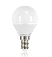 Integral E14 250Lumens 3.1W Eq. to 25W 2700k 80cri 180 Frosted (Warm White)