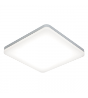 Saxby Noble 300mm square flush IP44 22W cool white (Sliver)