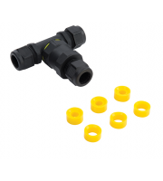 Saxby Lighting Inline IP68 connector tee IP68  (Black)