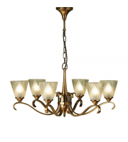Saxby Lighting Columbia 6 Light Antique Brass Finish Chandelier