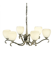 Saxby Lighting Columbia 6 Light Polished Nickel Finish Chandelier