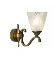 Endon Lighting Columbia Brass Finish Single Wall Light
