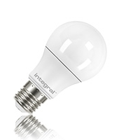 Integral E27 470Lumens 6.6W Eq. to 40W 2700k 80cri 240 Frosted (Warm White)