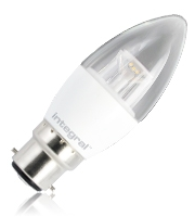 Integral B22 480Lumens 6.2W Eq. to 40W 5000k 80cri 240 Clear (Daylight)