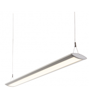 Endon Kaba Single 29W LED Suspended Fitting (Silver Anodised)