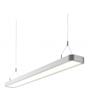 Endon Samos Single 29W LED Suspended Fitting (Silver Anodised)