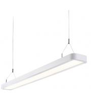 Endon Samos Single 29W LED Suspended Fitting (Matt White)