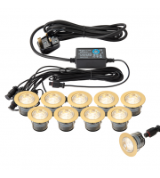 Endon Ikon Pro 45mm IP67 LED Decking Kit (Brass)