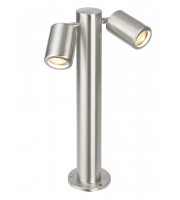 Endon Atlantis 450mm IP65 Post Light (Brushed Stainless)