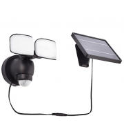 Saxby Lighting Sentinel solar IP44 10W daylight white (Black)