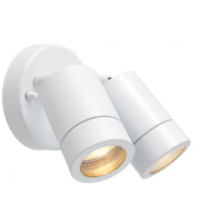Saxby Lighting Palin 2lt spot wall IP44 7W  (White)