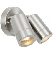 Saxby Lighting Palin 2lt spot wall IP44 7W (Stainless steel)