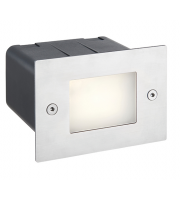 Saxby Lighting Seina half brick IP44 2W cool white  (Brushed Stainless)