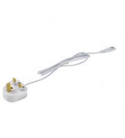 Saxby Lighting Sleek CCT power lead & 3 pin plug (White)