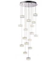 Endon Lighting Prisma 16lt pendant 4.12W cool white (Chrome)