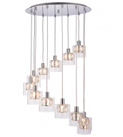 Endon Lighting Verina 12lt pendant 28W (Chrome) SALE ITEM