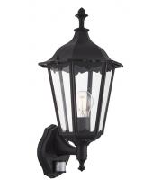 Endon Lighting Burford 1lt wall Photocell & PIR IP44 60W (Black)