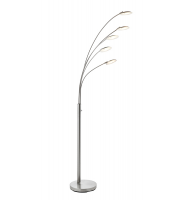 Saxby Lighting Fynn 5lt floor 5W SW warm white (Satin Nickel)