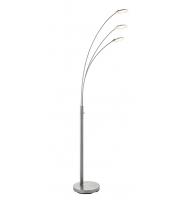 Saxby Lighting Fynn 3lt floor 5W SW warm white (Satin Nickel)