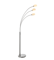 Saxby Lighting Jaspa 3lt floor 5W SW warm white (Satin Nickel)
