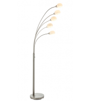 Saxby Lighting Jaspa 5lt floor 5W SW warm white (Satin Nickel)
