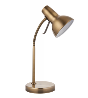 Endon Lighting Amalfi task table USB 7W SW (Antique Brass)
